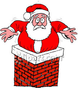 Santa Got Stuck Up the Chimney